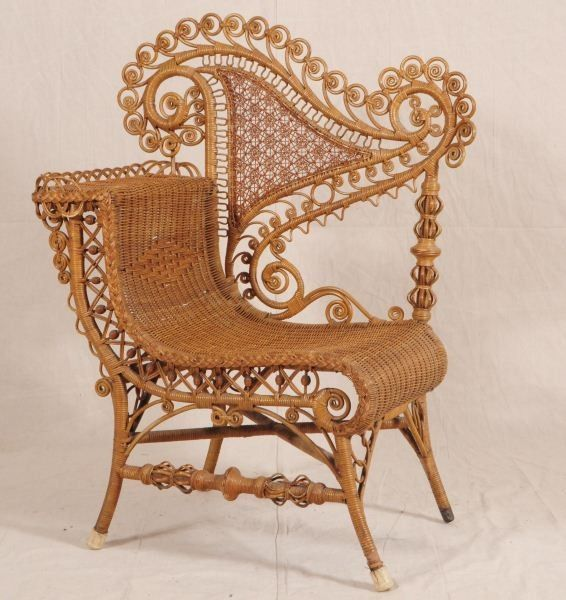 wicker chair from the victorian era