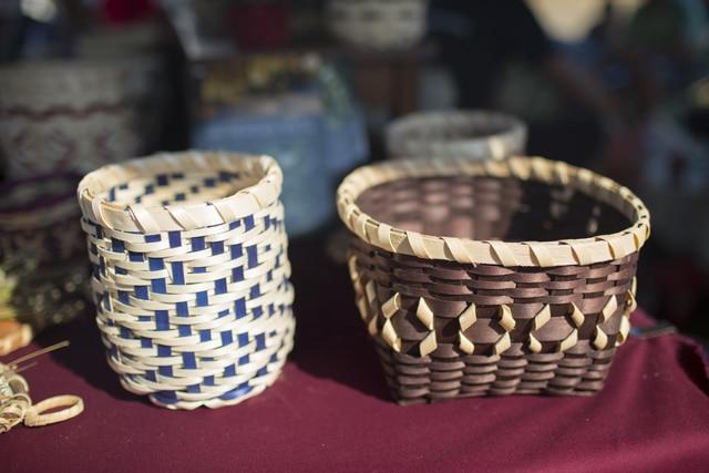 Potawatomi black ash baskets