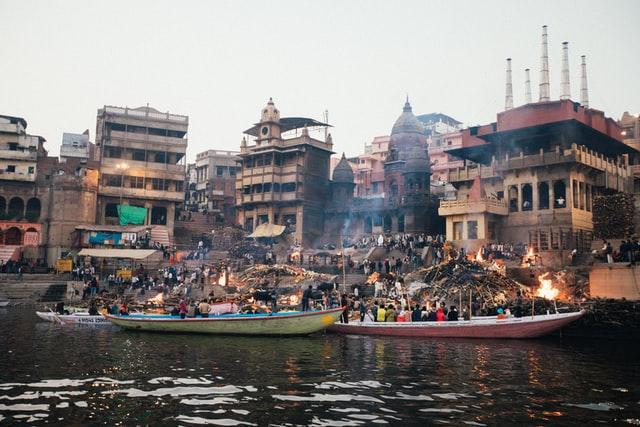 Ritual at Ganges River in Varanasi