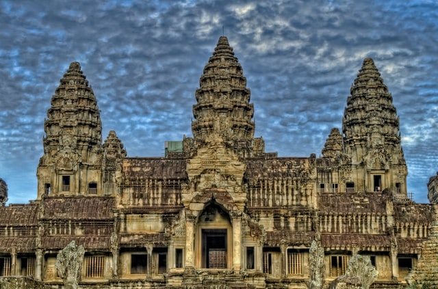 Outside view of the entrance to Angkor Wat