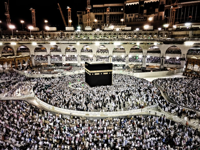 Kaaba, Mecca with countless visitors