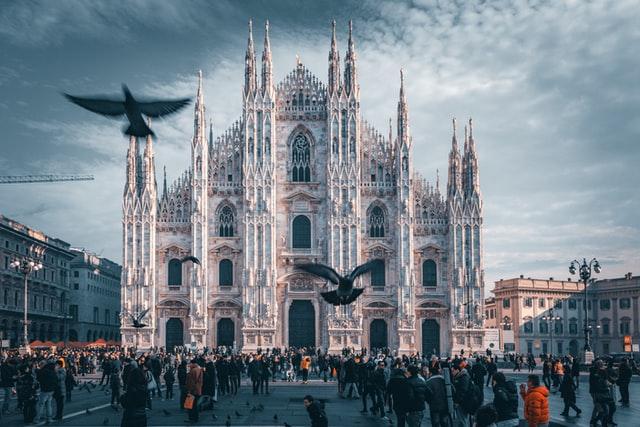 Panoramic view of the Duomo di Milano