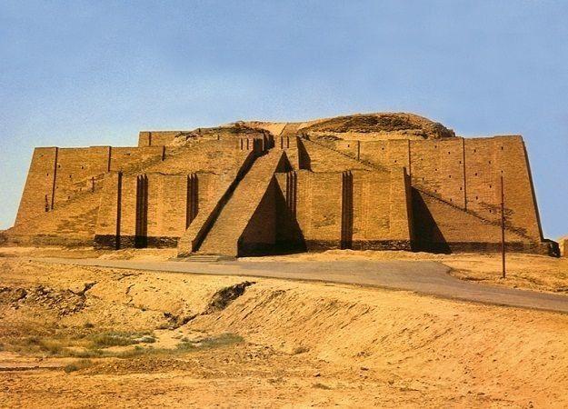 ziggurat, a temple built for the gods