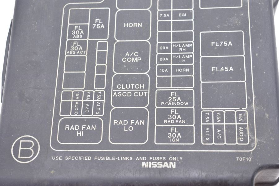 1995-1998 NISSAN 240SX KA24DE S14 SILVIA ENGINE FUSE BOX