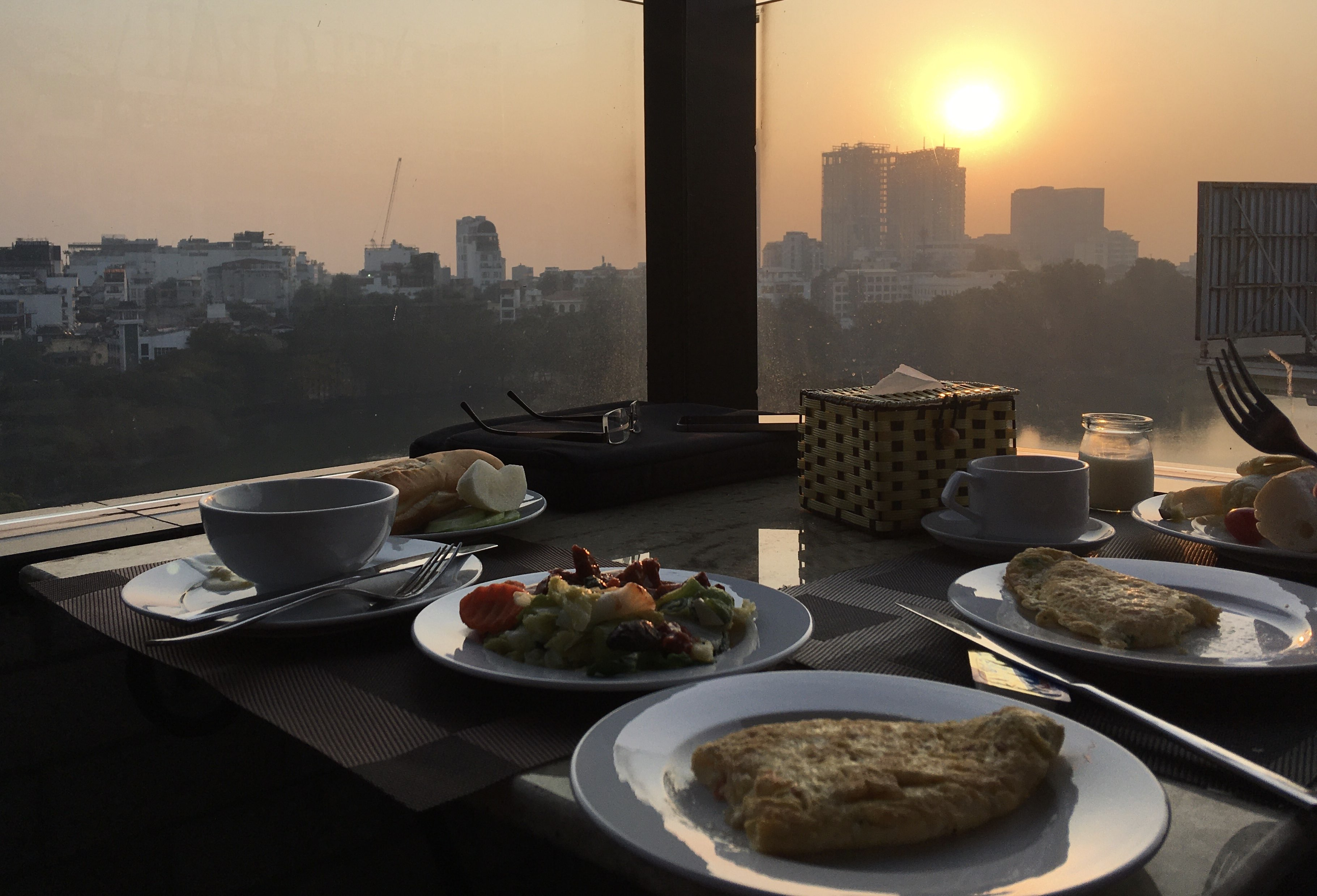 Breakfast View From The 9th At Centre Point Hanoi Hotel