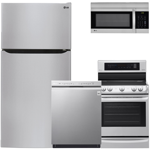 lg kitchen appliance packages ideas for kitchens ge frigidaire samsung appliances bosch 4 piece package stainless steel