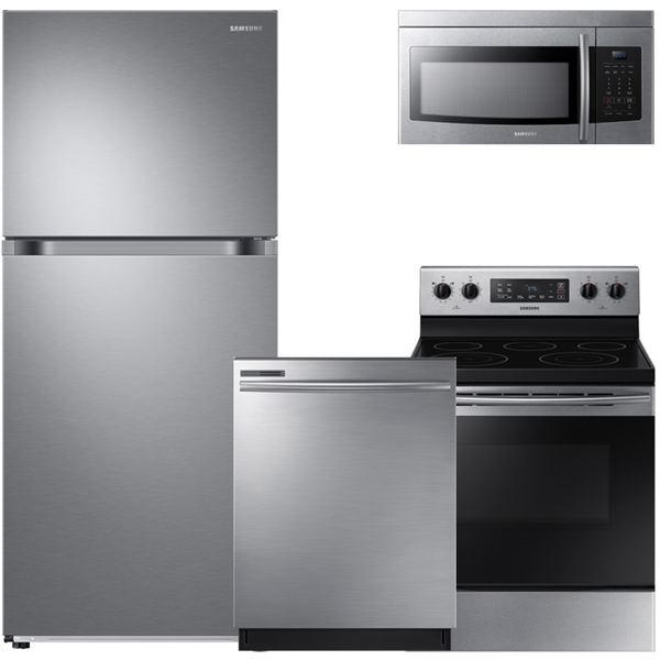 4 piece stainless steel kitchen package brizo venuto faucet packages ge frigidaire samsung appliances bosch lg