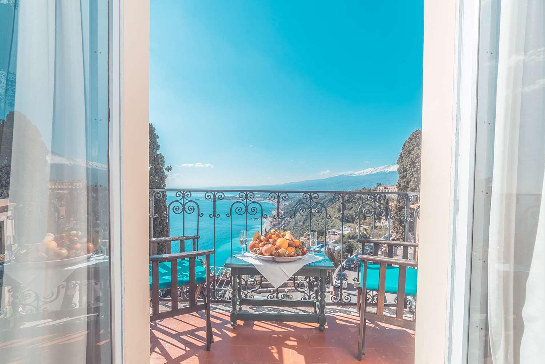 Camere  Camera vista mare Etna Hotel Taormina  Hotel