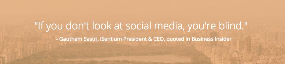 Machine Intelligence iSentium: Quote from iSentium CEO