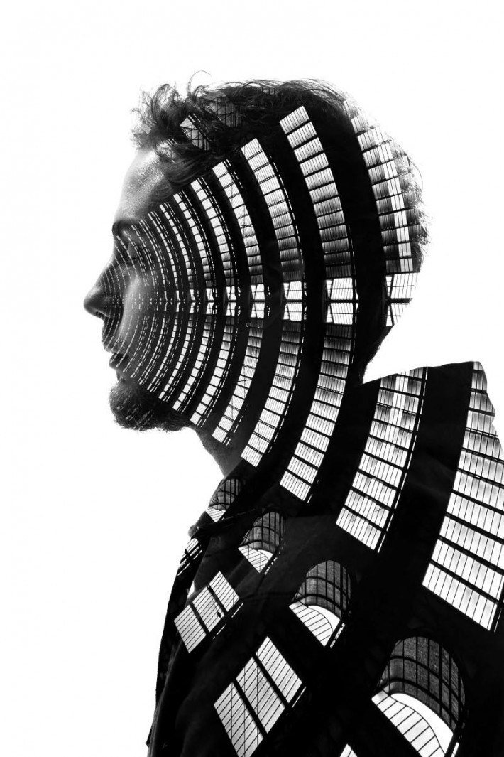 Seamless Double Exposures of Milans Architecture and
