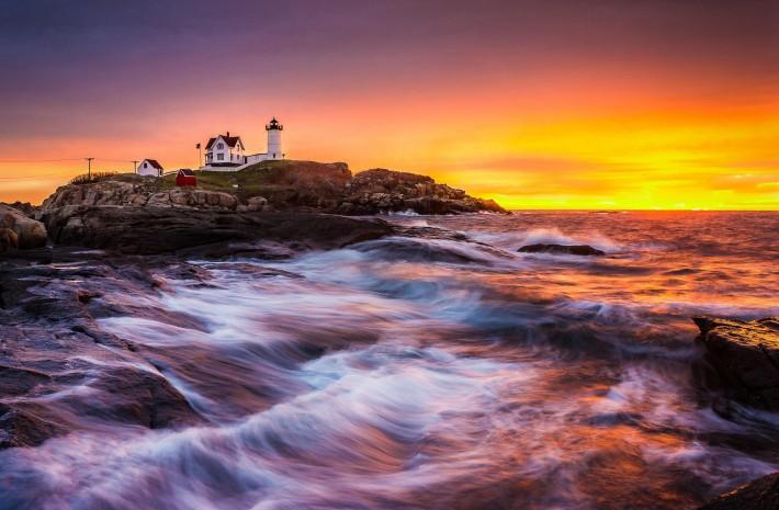 Epic Sunrise at Nubble Lighthouse
