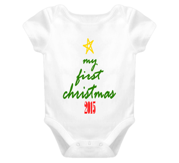 My First Christmas Cute Baby One Piece Boy or Girl 1st