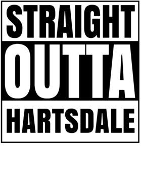 Straight Outta Hartsdale New York City Compton Parody T Shirt
