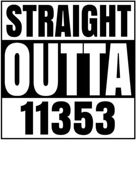 Straight Outta 11353 Flushing New York Compton Parody T Shirt