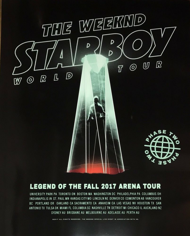 starboy the weeknd world tour concert 24x30 poster the legend of the fall 2017