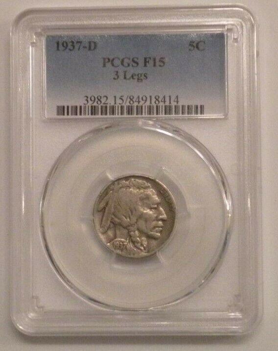 1937 D Buffalo Nickel Value : buffalo, nickel, value, 1937-D, *Three, Legged, BUFFALO, Indian, Nickel, Auction, Prices