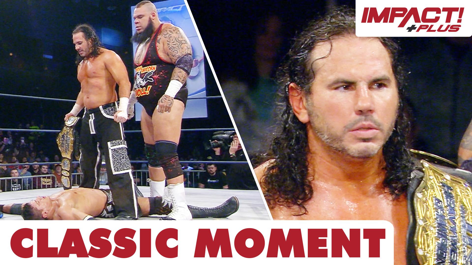 Matt Hardy Steals the TNA World Championship – IMPACT Wrestling
