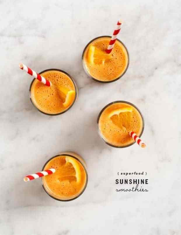 superfood sunshine smoothies / @loveandlemons