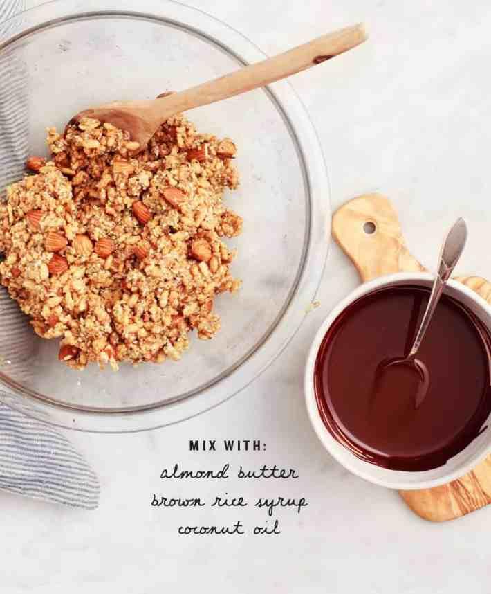 Almond Butter Brown Rice Crispy Treats