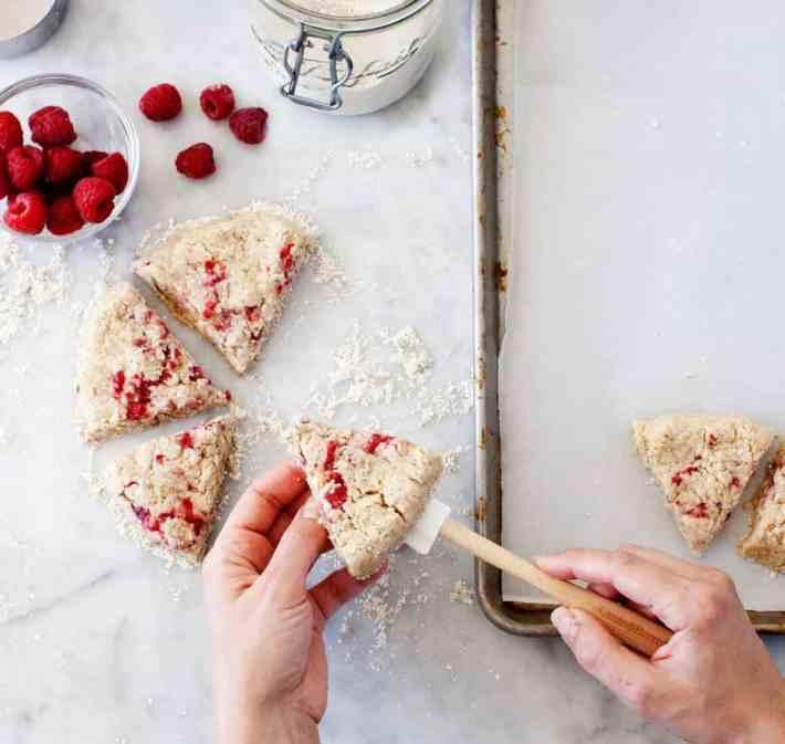 Vegan Raspberry Coconut Scones