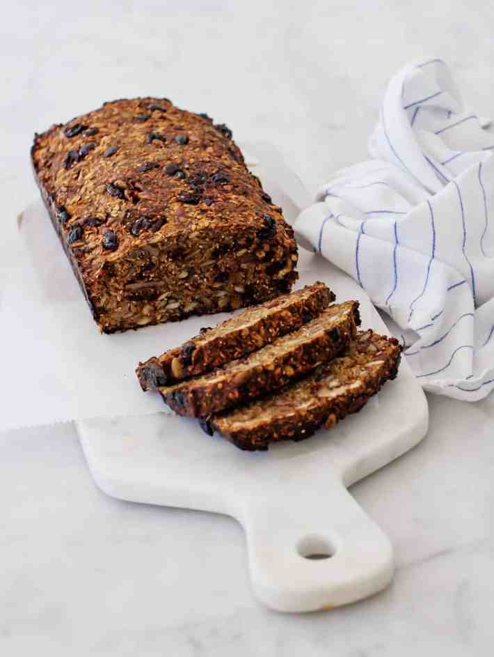 Pumpkin Cranberry Nut Seed Loaf