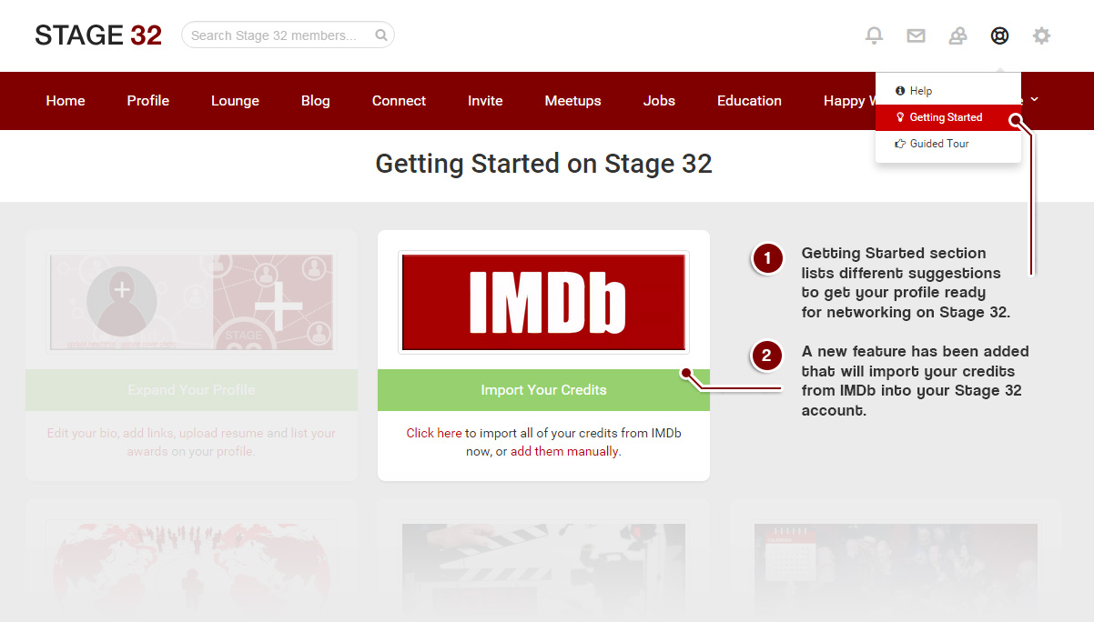 Imdb Resume Import Your Imdb Credits To Your Stage 32 Profile Stage 32