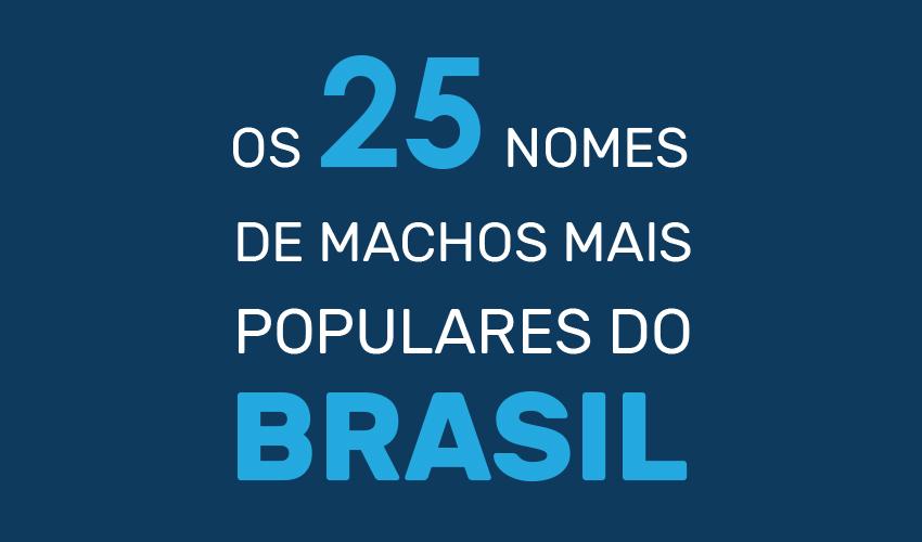 25 nomes de macho mais populares do Brasil