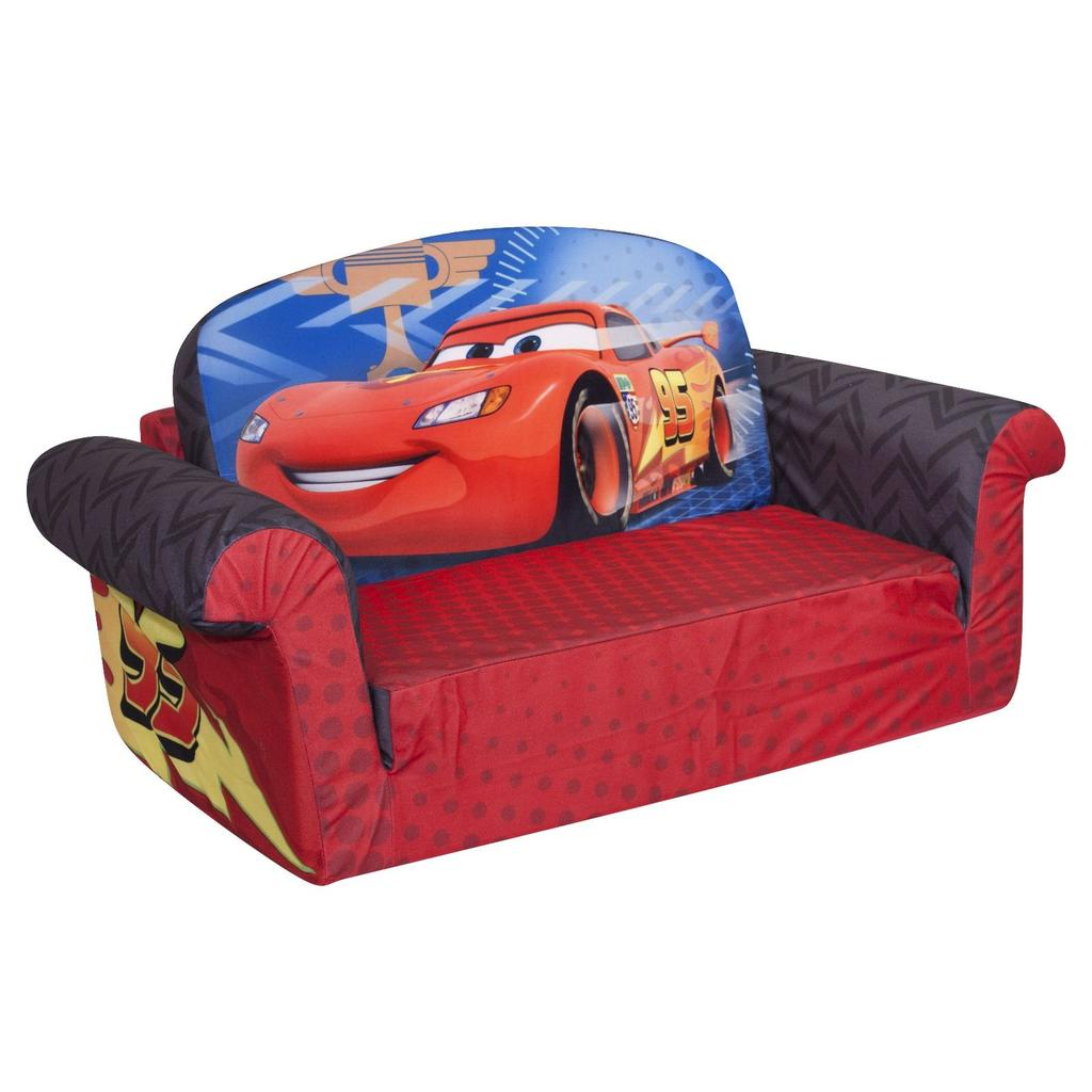 child pull out sofa leather sectionals with chaise spin master marshmallow furniture flip open cars