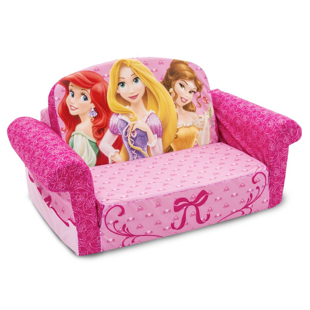 disney princess flip out sofa childs seat spin master marshmallow furniture open