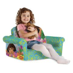 Dora The Explorer Flip Out Sofa Bed Brown Ebay Spin Master Marshmallow Furniture Open