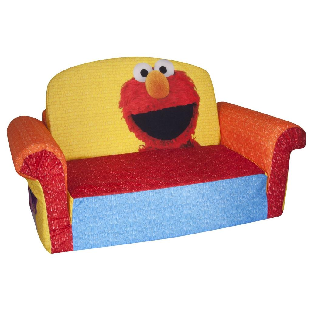 child pull out sofa best built beds spin master marshmallow furniture flip open elmo