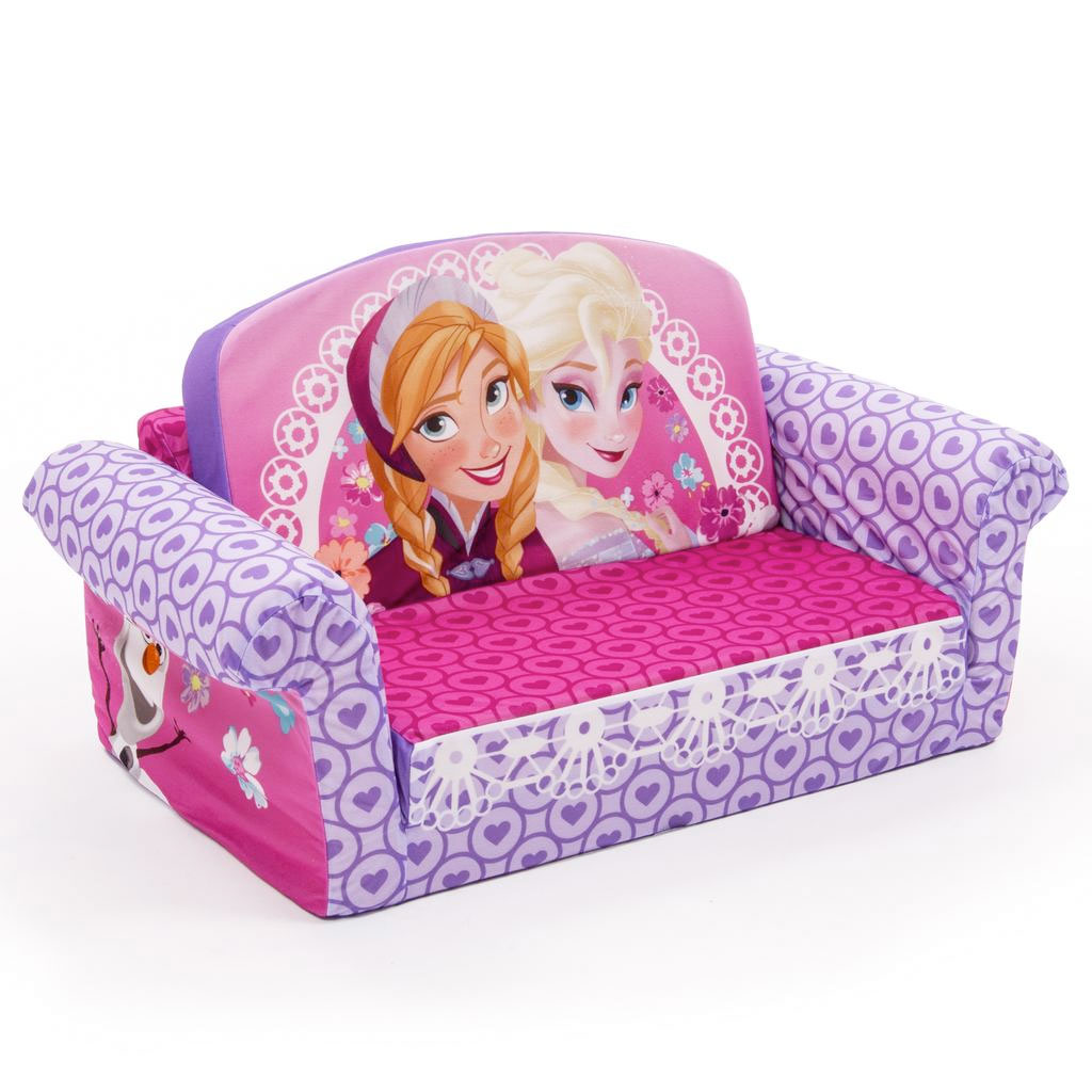 flip open sofa chair cheap corner and set spin master marshmallow furniture disney frozen