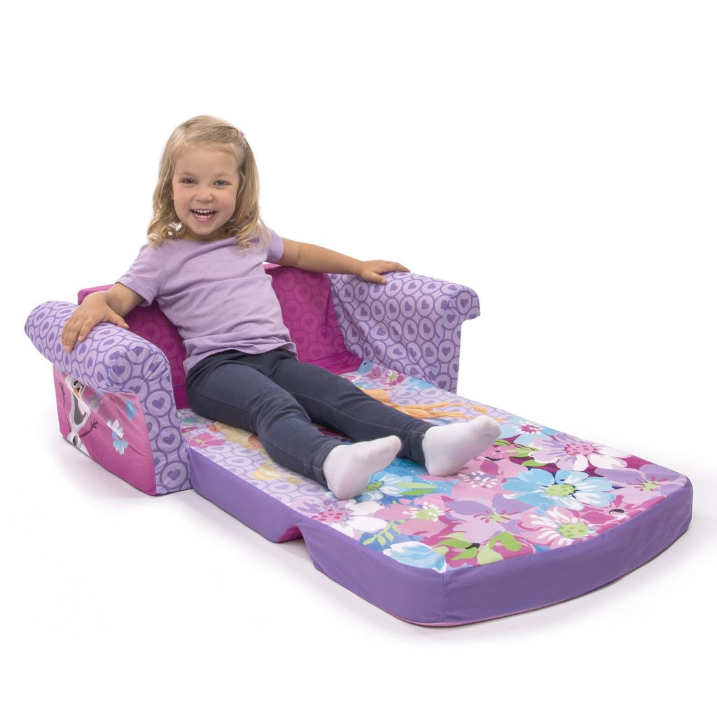 child pull out sofa narrow corner bed spin master marshmallow furniture flip open disney