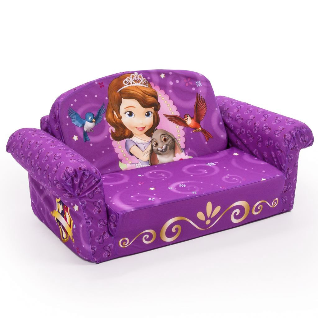 frozen flip sofa canada replacement air mattress for rv bed spin master marshmallow furniture open sofia the first