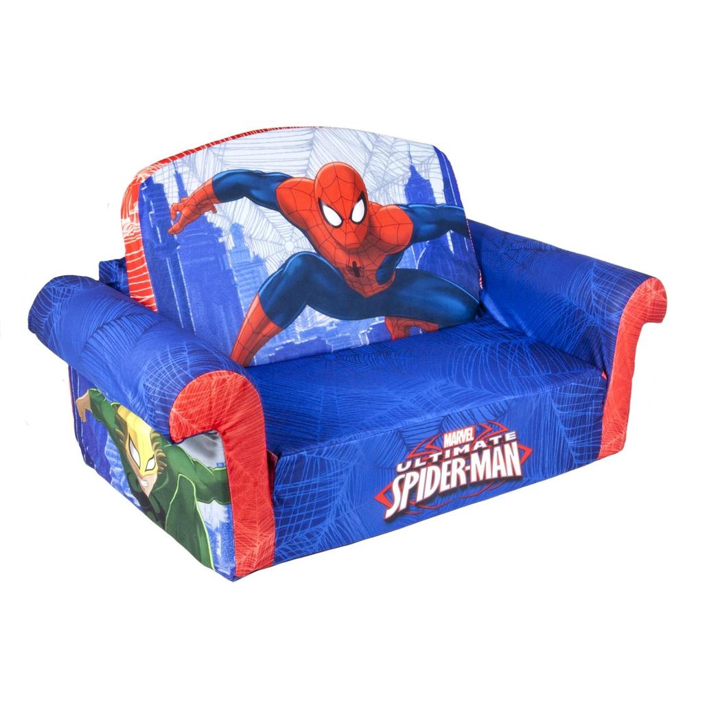 flip open sofa chair high end sofas nyc spin master marshmallow furniture spiderman