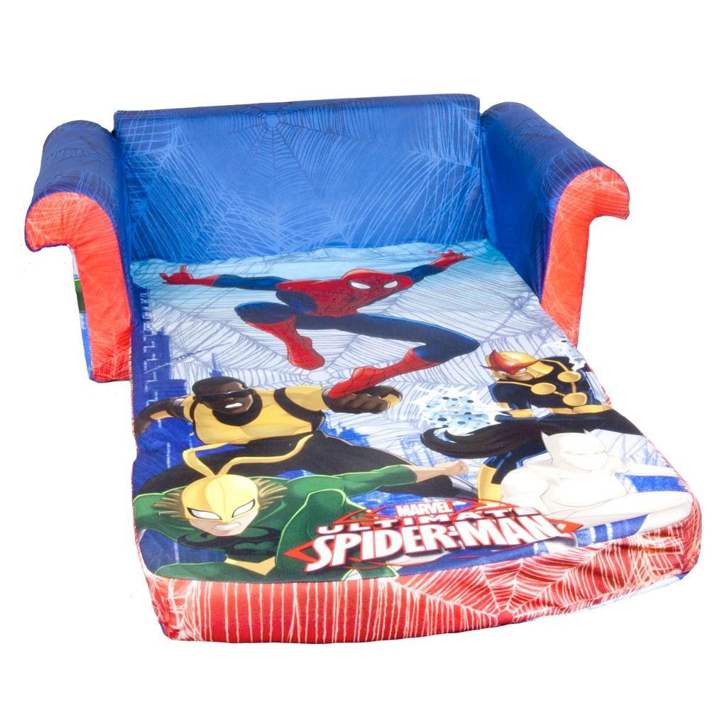 toddler flip sofa cover salon furniture spin master marshmallow open spiderman