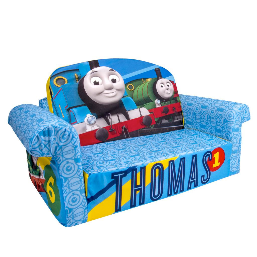 children s pull out sofa oak legs spin master marshmallow furniture flip open thomas