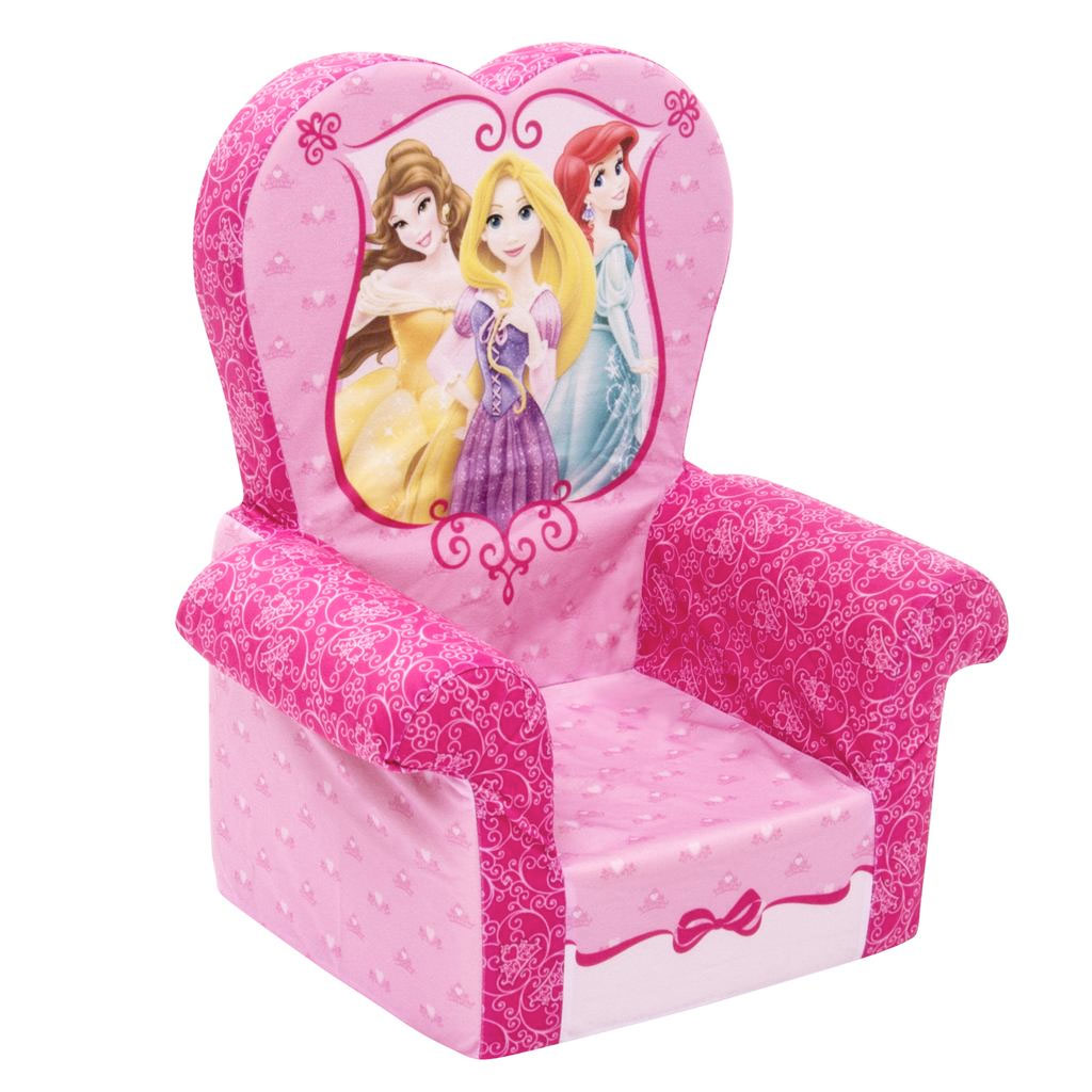 disney princess chair baby cover pattern spin master marshmallow furniture high back