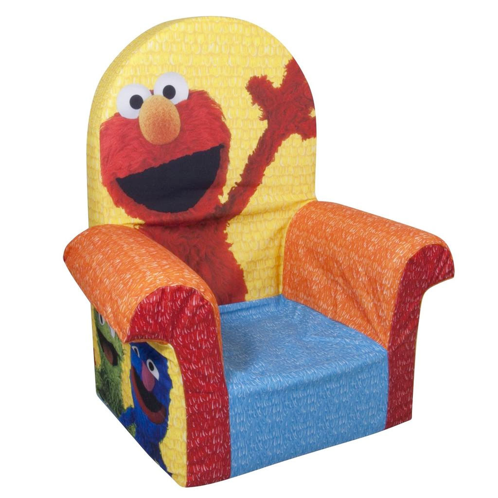 Toddler Foam Chair Spin Master Marshmallow Furniture High Back Chair Elmo