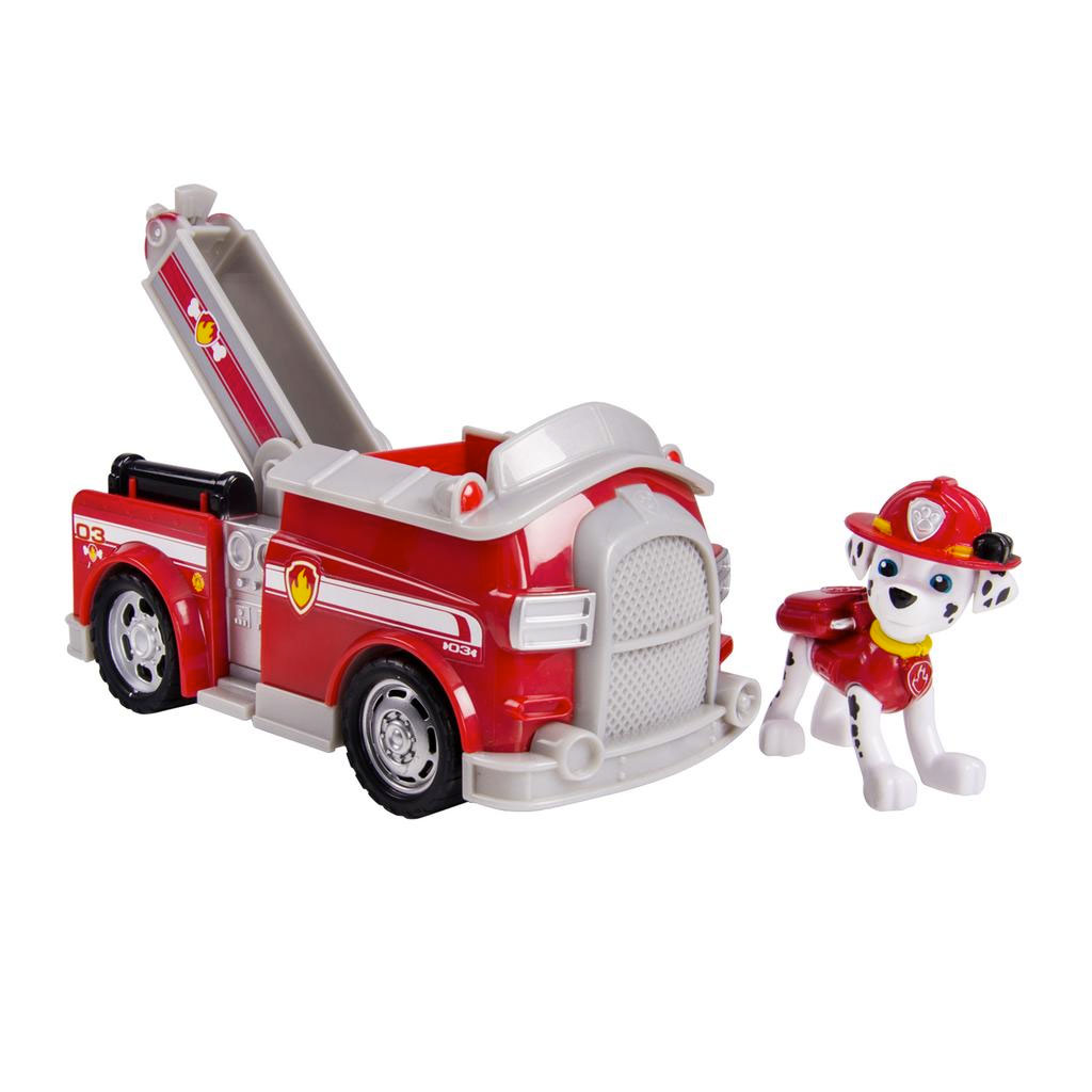 Marshall With His Fire Truck Coloring Page Paw Patrol Marshall