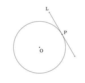 bersinggungan dengan lingkaran