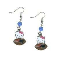 Hello Kitty Football Earrings - Patriots ProShop