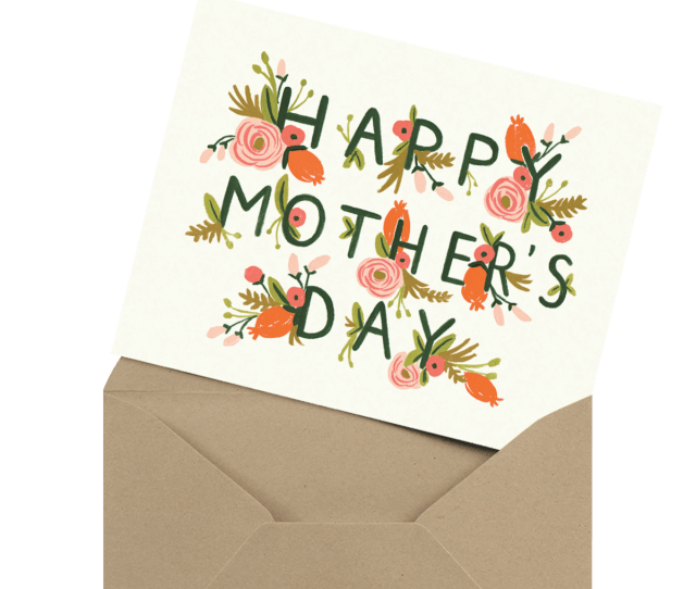 Modern Photo Mothers Day Card In Envelope