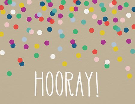 Congrats Confetti Hooray By Green Tie Studio Postable