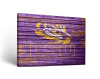 LSU Tigers Weathered Canvas Wall Art