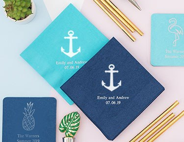 personalized paper napkins custom