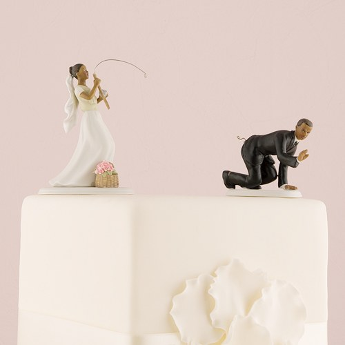 Catch Of The Day Fishing Wedding Cake Topper The Knot Shop