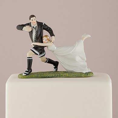 Rugby Bride And Groom Cake Topper The Knot Shop