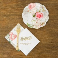 Partyware Floral Paper Plates - Confetti.co.uk