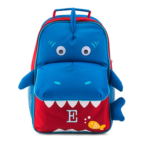 personalized kids backpack shark